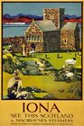 TW64 Vintage 1930 Iona Scotland Scottish Travel Poster Re-Print A1/A2/A3/A4