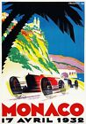 AV33 Vintage 1932 Monaco Grand Prix Motor Racing Advertisment Poster A1 A2 A3 A4