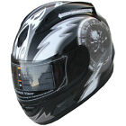 Motorcycle Helmet Full Face Sports Helmets DOT 159  Black Skull