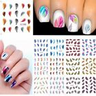 Fancy Beautiful Leopard Water Transfer Stickers Nail Art Tips Feather Decals DIY