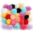 Wholesale Lots 120Pcs Resin Rose Flowers Cabochons Cameo Flat Back Beads 18mm