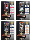 Choose Your MLB Player Ticket & Bronze or Metal Medallion Coin Acrylic Desktop