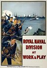 WA128 Vintage WW1 British Royal Navy Recruitment War Poster WWI A1/A2/A3/A4