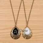 Vintage Style Drop Shape Pendant Necklace Sweater Long Chain For Lady Girls