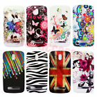 New Painted Patterns Colorful Hard Plastic Back Case Cover F HTC Desire 500 506e