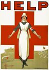 WA135 Vintage WW1 HELP Australian Red Cross Nurses War Poster A1/A2/A3/A4