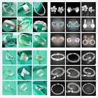 UK Hot Wholesale Lady/mens SILVER 925Bracelet/Necklace/Ring/Earring/Bangle/Chain