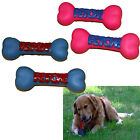 2 x PLASTIC SQUEAKY SQUEEKY DOG PUPPY BONE PET ANIMAL PLAY CHEW TOUGH TOY TREATS