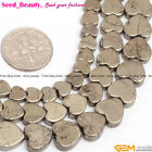 """Natural Gemstone Pyrite Stone Beads For Jewelry Making 15"""" Heart Lockets 6-10mm"""