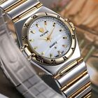 White Dial Mens Womens Lovers Wristwatch Quartz Movement Analog Stainless Steel