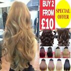 "24"" One Piece Clip In Hair Extension Pale Golden Ash Blonde Light Brown White"
