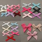 4mm/5mm/7mm Satin Ribbon Bows 30pk Printed Satin / Stitched Grosgrain Bows