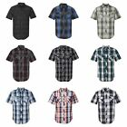 PEACHES PICK - PLAID Burnside Mens S-3XL Short Sleeve Button Shirt with Pockets