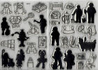 BN JOLLY NATION Clear Stamp Set *YOU CHOOSE*
