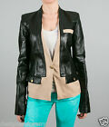ICB by Prabal Gurung Leather Black/Beige JACKET size 2