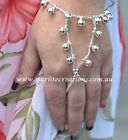 Jingling Bells hand beaded Slave Bracelets Belly Dancing SILVER or GOLD  1 pair