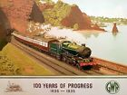 TX278 Vintage 100 Years Of Progress GWR Railway Travel Poster Re-Print A2/A3/A4