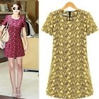 Brand New Women Short Sleeve Two Colors Stretch Polyester Mini Pencil Dresses