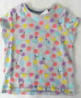 Girls NEXT BNWT Grey multi spot short sleeve top age 9 -12 months  1.5 -2  years