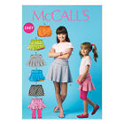 McCall's 6918 Sewing Pattern to MAKE Easy Stretch Girls' Skirts & Skorts