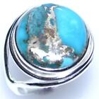 Mojave COPPER Turquoise Ring, 925 Sterling SILVER Rings L, 50.5 to Y, 12