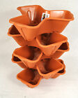 Stackable Garden Planter Herb Flower Pots Indoor Outdoor Round Clover