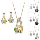 Rose Gold Plated Crystal Made with Swarovsky Elements Necklace Earrings Set