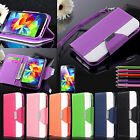 Luxury PU Leather Wallet Flip Cover Stand Case For Samsung Galaxy S5 SV i9600