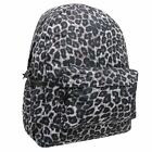 No Fear Womens Ladies Wildcat Animal Print Backstraps Front Zip Pocket Backpack