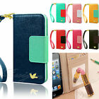 Flip Wallet Leather Case Cover For Apple iPhone 6 5 5S Free Screen Protector
