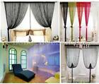 String Door Curtain Fly Screen Divider Room Window Home Decor Plain Blind Tassel