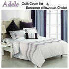 ADELE White Embroidered Quilt Cover Set by Bianca COTTON - QUEEN KING Eurocases