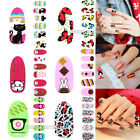 Nail Art Tips Wraps Stickers Full Self Adhesive Polish Foil Decoration DIY Decal
