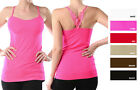 FIT Stretchy Quality SEAMLESS Spaghetti Strap Embroidery Camisole Tank Top S-XL