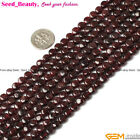 jewelry making smooth and faceted coin garnet Gemsone beads strand 15""