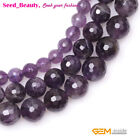 Jewelry Making round faceted mixed color amethyst Gemstone beads strand 15""