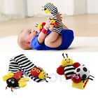 Baby Kids Infant Bee Ladybug Wrist Foot Socks Rattles Hand Foot Finders Toys Hot