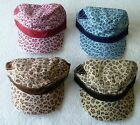 New, Leopard Print Cadet/Military  Style hat/cap. Choose your color.