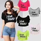 HOT NEW Free Size Loose Short Sleeve T-shirt Women Casual Multicolor Crop Top