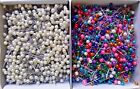 1000 Craft Pins Pearl Heads Multi or White + FREE USA SHIPPING