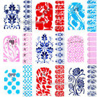 Fashion 3D Nail Art Foils Rhinestone Crystal Wraps Foils Patch Decals Decoration