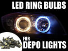 T5 / 286 Canbus LED Upgrade Bulbs Lighting Part For Depo Angel Eye Headlights