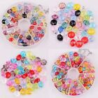 80pcs/100pcs Assorted Color Faceted Acrylic Rondelle Loose Spacer Beads 8mm 6mm