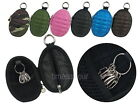 Hand Grenade Style Zippered Key Pouch Holder Coin Wallet Soft Case