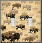 Light Switch Plate Cover - Wild Buffalo - Rustic Home Decor
