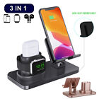 For Apple Airpods Watch iPhone 3 In1 QI Wireless Charger Charging Dock Station