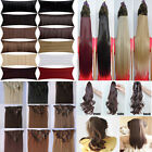 AU Any Styles 8pcs Full Head Clip in Hair Extensions one piece 5clips bangs mm