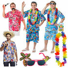 Hawaiian Shirt Mens Beach BBQ Summer Party Fancy Dress Lei Sunglasses Flower