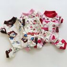 Brown Pink Red Cotton Dog Pajamas Jumpsuits Dog Clothes Pet Apparel XS S M L NEW