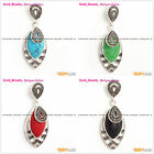 Beauty marcasite silver pendant with 12x22mm marquise beads+Free gift box/chain